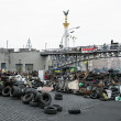 Evromaydin Kiev. Barricades in street Institutskaja. — Stock Photo #41675653
