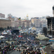 Evromaydan in Kiev. Independence Square after the revolution. — Stock Photo #41714973