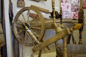 Antique spinning wheel nation Vod (Finno-Ugric tribe) — Stock Photo