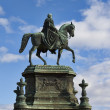 Saxon King Johann monument — Stock Photo