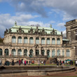 The Zwinger Palace and Building of the Old Masters Picture Galle — Stock Photo