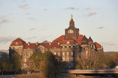 State House of Saxony the last rays of the sun — Stock Photo