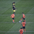 Stock Photo: Shakhtar players begin to Champions League match