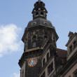 Dresden Tower of Katholische Hofkirche — Stock Photo