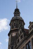 Dresden Tower of Katholische Hofkirche — Stock Photo