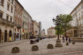 Market Square in Lviv - the central square of the city — Foto de Stock