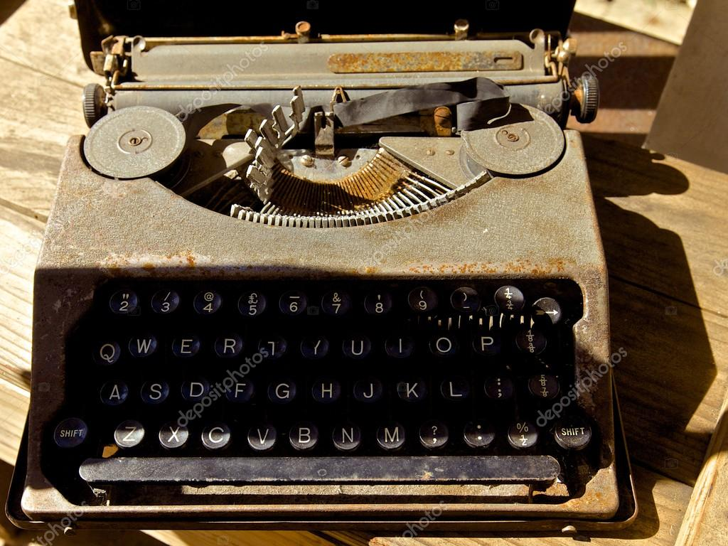 Old antique typewriter  Stock Photo #12345777