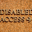 Disabled Access — Stock Photo