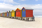 Beach huts — Foto de Stock