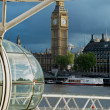Big Ben and London Eye — Stock Photo