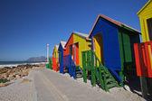 Beach Cabins — Stock Photo