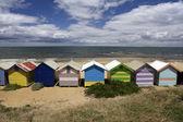 Färgglada stranden hyddor i australien — Stockfoto