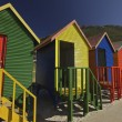 Wooden Changing Cabins at the Beach Cape Town — Stock Photo