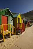 Beach Cabins, Cape Town — Stock Photo