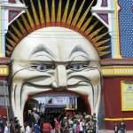 Luna Park in Melbourne — Stock Photo