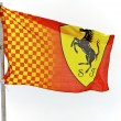 Stock Photo: Formula One Ferrari Flag