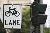 Bicycle Cycle Lane Sign — Stock Photo