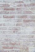 Vit tegelvägg — Stockfoto