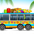 Trip on Bus — Stock Vector #10806777