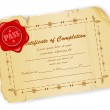 certificato d'epoca — Vettoriale Stock  #12429234
