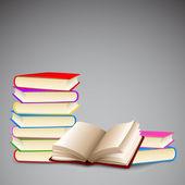 多彩的书 — 图库矢量图片