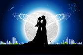 Romantik çift — Stok Vektör