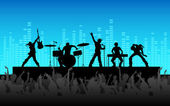 Rock Band Performance — Stock Vector