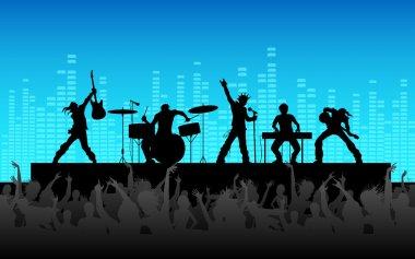 Rock Band Performance