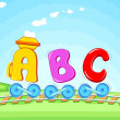 ABC train — Stockvectorbeeld