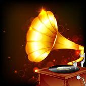 Gramophone — Stock Vector