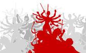 Durga puja — Vetorial Stock