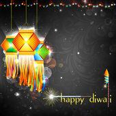 Diwali opknoping lantaarn — Stockvector