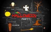 Halloween Typography — Stock Vector