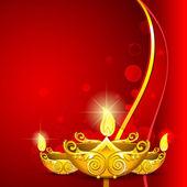 Diwali diya yanma — Stok Vektör
