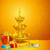 Diwali arka plan — Stok Vektör