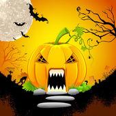 Pumpkin Monster House — Stock Vector