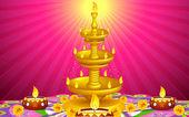 Altın diya stand — Stok Vektör
