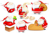 Santa in different Mood — Stock Vector