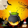 Halloween Cauldron - Stok Vektr