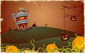 Noche de halloween espeluznante — Vector de stock