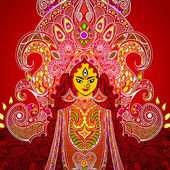 Durga puja — Stok Vektör