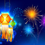 Diwali asılı fener — Stok Vektör #13558897