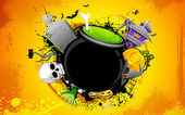 Halloween Cauldron — Stock Vector