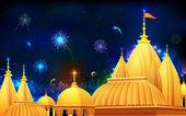 Diwali Night — Stock Vector