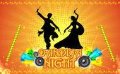 Dandiya noche — Vector de stock