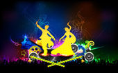 Poster for Dandiya night — Vector de stock