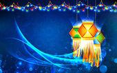 Diwali asılı fener — Stok Vektör