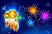 Diwali Hanging Lantern — Stock Vector