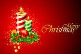 Vánoční svíčka — Stock vektor