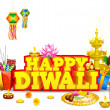 Royalty-Free Stock Imagem Vetorial: Diwali Background